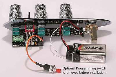 Audere Onboard Bass Guitar Preamp; Volume/Volume & 4 Band EQ, Jack on Jazz Plate