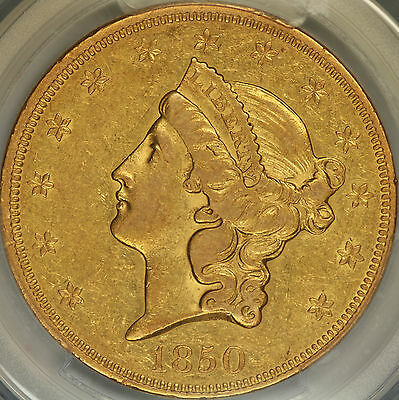 1850 $20 Liberty Double Eagle PCGS XF45