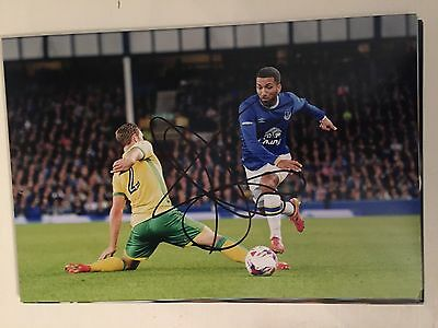 Aaron Lennon Everton Fc Toffees Hand Signed 12X8 Photo