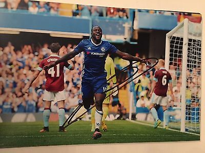Victor Moses Chelsea Fc Blues Hand Signed 12X8 Photo