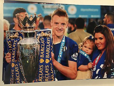Jamie Vardy Leicester City Fc Foxes Hand Signed 12X8 Photo