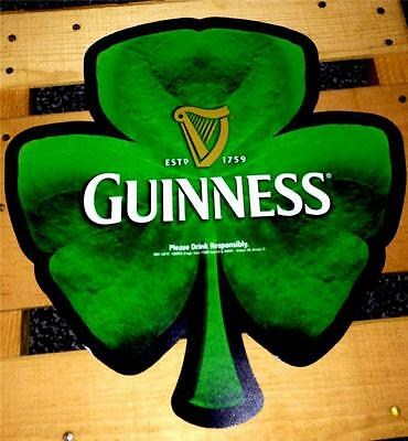 25 GUINNESS BEER WALL WINDOW SHAMROCK BAR SIGNS IRISH PARTY DECORATIONS 11'x11""