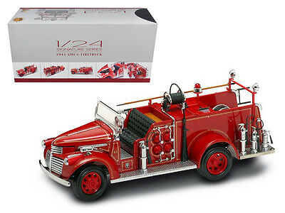 1941 GMC Fire Engine Red with Accessories 1/24 Diecast Model Car by Road Signatu