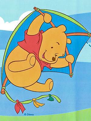 * Winnie the Pooh & Tigger Flying on Windy Day - ONLY $4 - Wallpaper Border 36
