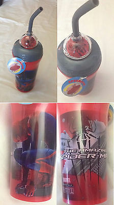 The Amazing Spiderman - Marvel - Bicchiere con Cannuccia - con Speedster - Nuovo