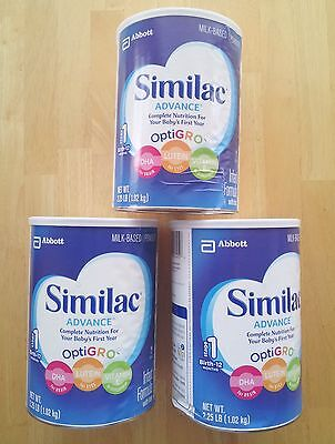 Similac Advance Infant Formula with Iron, Powder, 36 Ounces, Pack of 3