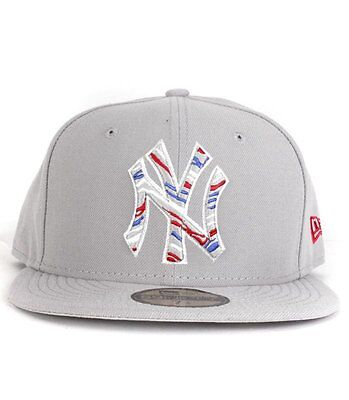 Casquette New Era NY Zag Stitch Gris