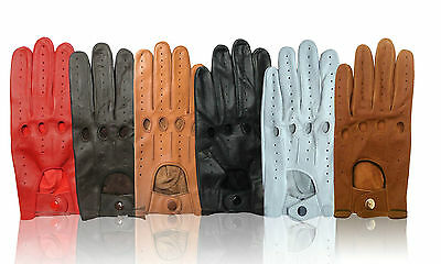 Men's Leather Driving Gloves Top Quality Soft Leather