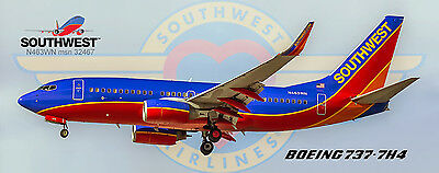 Southwest Airlines Boeing 737 Photo Magnet (PMT1542)