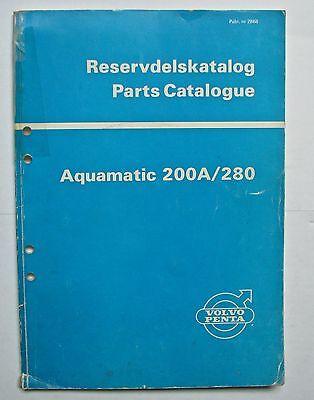 Aquamatic 200A/280 Parts Catalogue - 1973 - very good used condition