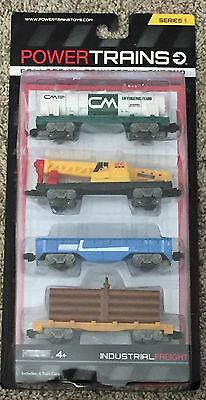 Power City Trains INDUSTRIAL FREIGHT Set 4 Cars Series 1 New and Sealed