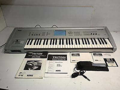 Korg Triton Musicstation / Sampler Keyboard Synthesizer W/ Korg Pedal Manuals