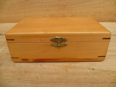 Vintage Old High Quality Hand-Made Huon Pine Box, Old Timber Box, (D66)