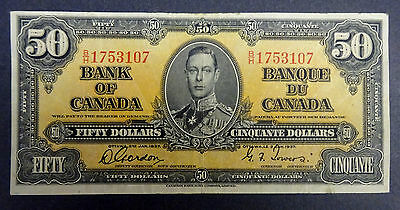 1937 - $50 Canadian Banknote, Great Condition ,Very Rare