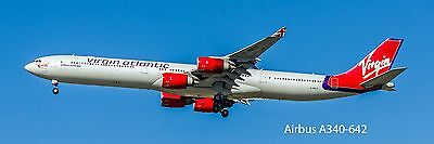 Virgin Atlantic  Airbus A340 Photo Magnet (PMT1605)