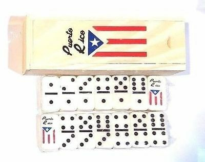 MINI Puerto Rico Flag Double Six Dominos Dominoes Boricua Rican * TRAVEL SIZE *
