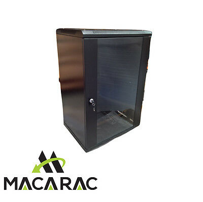 """18U 450mm DEEP WALL-MOUNT DATA CABINET (19"""" Rack / Provision for 2 Fans)"""