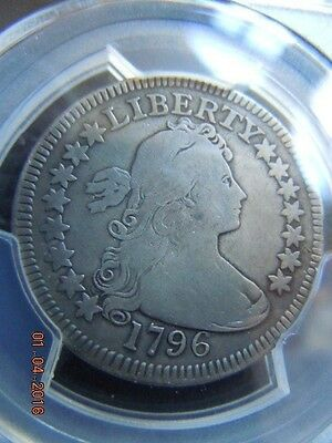 1796 Draped Bust Quarter, Pcgs Graded Vg Details, Low Mintage Of 6146! Nice Coin
