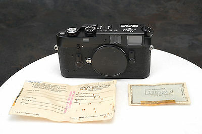 . Leica M4 MOT 35mm Rangefinder Camera Body Mint- Condition w/Papers