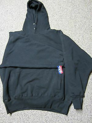 Camber Pullover Sweatshirt Hood Extra Heavy Weight Thermal Black XL