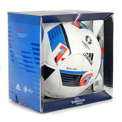 Adidas UEFA Euro 2016 Official Match Soccer Ball White/Indigo AC5415 NEW!