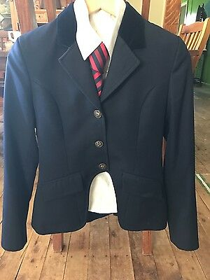 SHOW STOPPERS Navy Cutaway Jacket Size 13-14 Kids or Ladies 6