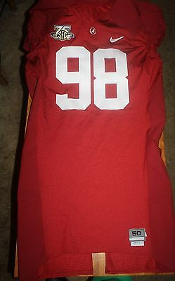 Alabama 2008 Game Used Home Nike Jersey Brandon Fanney De