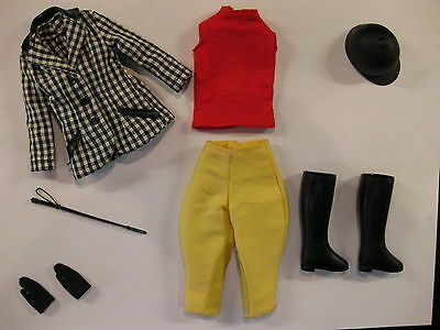 """Vintage Brunette  Skipper  & Complete """" Learning To Ride"""" Outfit & Stand"""
