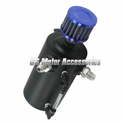 0.5L Engine Racing Aluminum Oil Catch Tank Can Reservoir Breather Filter top