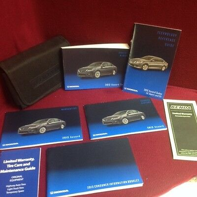 2013 Honda Accord Sedan Owners Manual w/ technology book, supplements & case