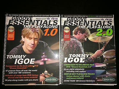 Drums Groove Essentials: The Play Along 1.0 & 2.0 Tommy Igoe Vic Firth