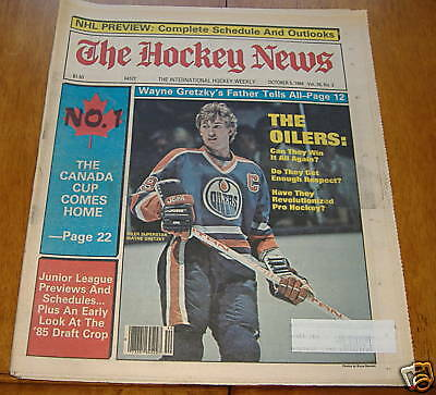 the hockey news  oct 5 1984   wayne gretzky