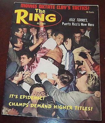 The Ring Magazine July 1965 Jose Torres Collectable