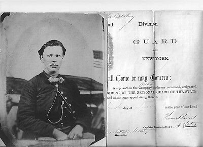 Archive of  Civil War Cpl Who Served at Elmira; Became Successful Inventor