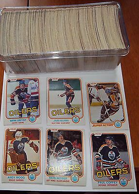 O-pee-Chee hockey card set 1981-82 Paul Coffee Rookie / Mark Messier