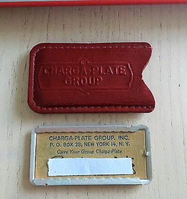 Vintage Charga-Plate Group Inc.  New York Charge Credit Card in leather sleeve