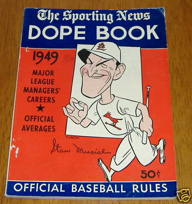 the sporting news dope book 1949 stan musial