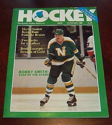 Bobby Smith Hockey the quality hockey magazine November 1980 Bobby Smith insert
