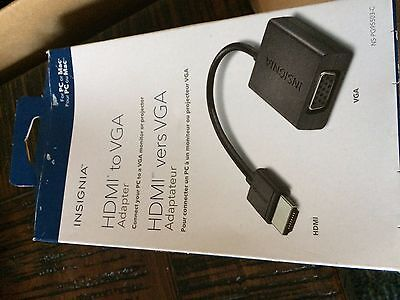 Insignia HDMI to VGA Adapter for PC or MAC - NS-PG95503-C