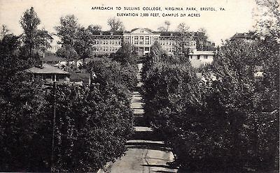 ~1930's BRISTOL VA - Approach to Sullins College Elev. 2000 ft. Campus 269 acres