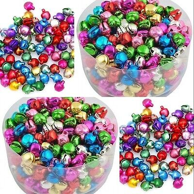100/500/1000pcs Colorful Iron Jingle Bell Christmas Jewelry Bead Pendant Charms