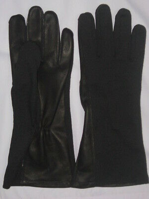 Pilot gloves leather, nomex Flight Glove fire,heat,flame resistance Black& Green