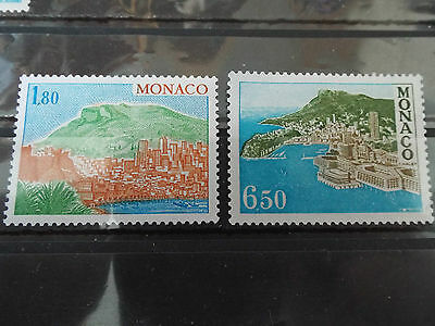 Lot de 2 timbres neuf MONACO 1978 : Sites et Monuments