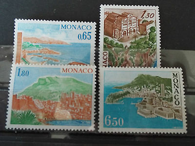Lot de 4 timbres neuf MONACO 1978 : Sites et Monuments