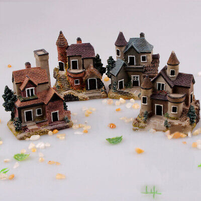 Miniature House Fairy Garden Micro Landscape Home Decoration Resin Craft Decor