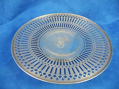 Antique Sterling Silver R. Wallace & Son Reticulated Footed Round Dish