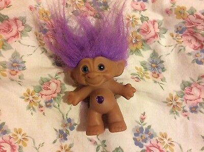 Troll doll vintage wishing stone with gem stone ace novelty co