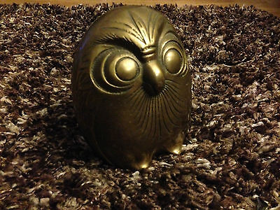 """Brass Owl 6"""" Vintage figure collectable"""