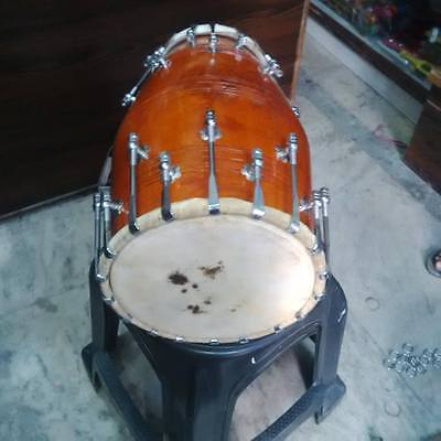 wow..!!new dholak mango_wood bolt fitting,dhollki_nice sound best offer dholak