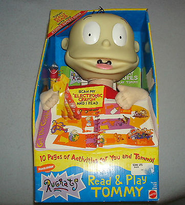 RUGRATS READ & PLAY TOMMY New In Box Nickelodeon Mattel 1999 Games Songs Vtg